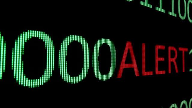 Alert text over binary data