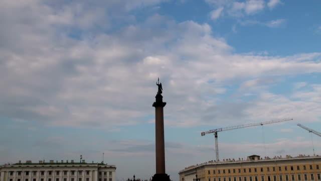 Alexander column on Palace square video