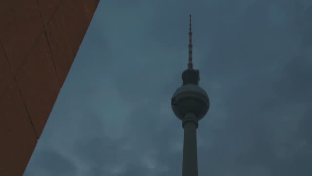 Alexanderplatz tower in Berlin, Germany video