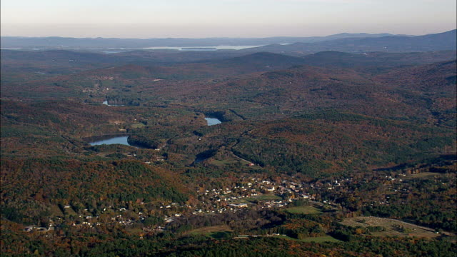 Alexandria And Bristol  - Aerial View - New Hampshire,  Grafton County,  United States video