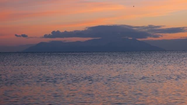 Alexandroupolis, the island of Samothraki (Samothrace) as seen from a boat video