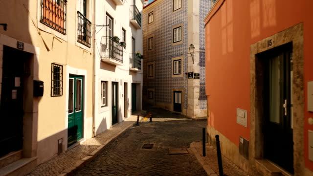 alfama, lisbon, portugal - lisbona video stock e b–roll