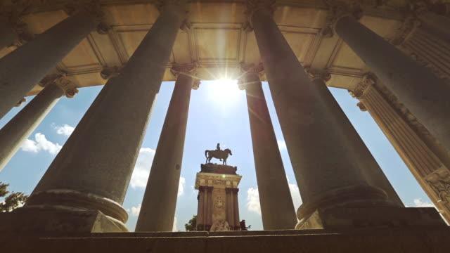 Alfonso XII Monument of Parque del Buen Retiro in Madrid video