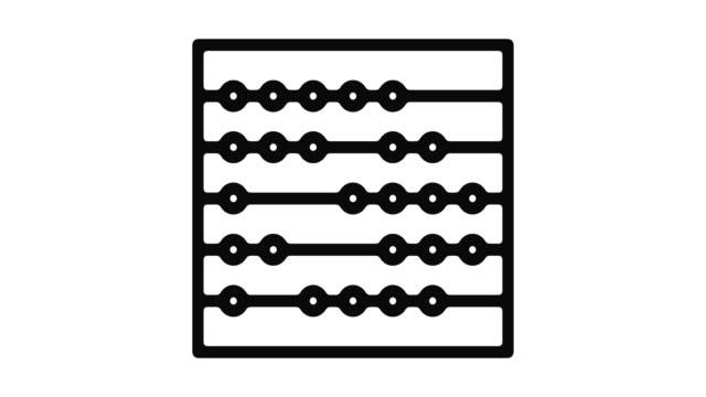 algebra motion linjeobjekt - abakus bildbanksvideor och videomaterial från bakom kulisserna