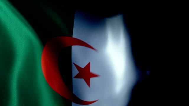 Algeria Flag Flapping