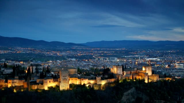 Alhambra palace and fortness complex. Granada, Spain video