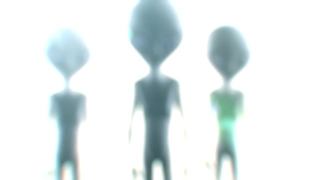 alien silhouette video
