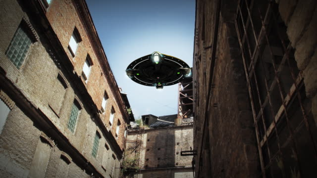 Alien spaceship scouting video