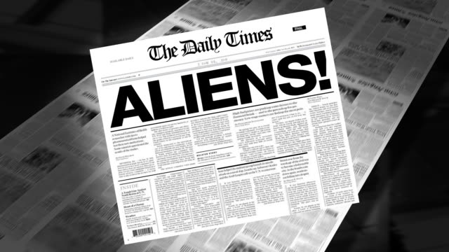 Aliens! - Newspaper Headline (Intro + Loops) video