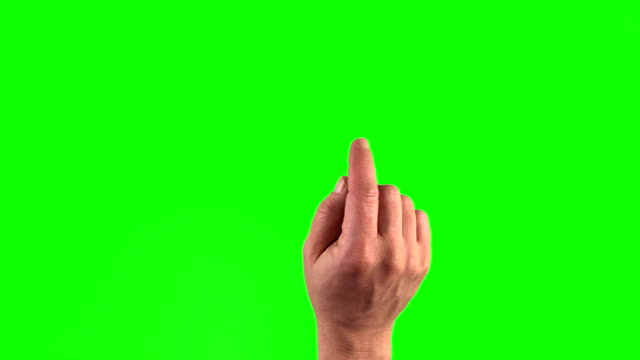 all 18 touchscreen gestures in 3840×2160. Set of hand gestures. video
