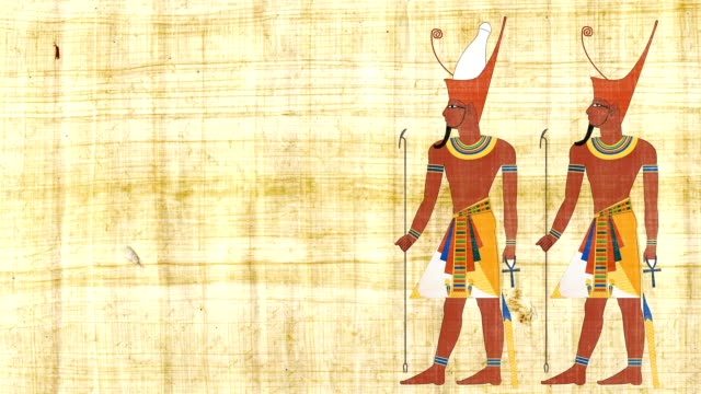 All Egypt Pharaoh And Lower Egypt Pharaoh On A Papyrus Background video
