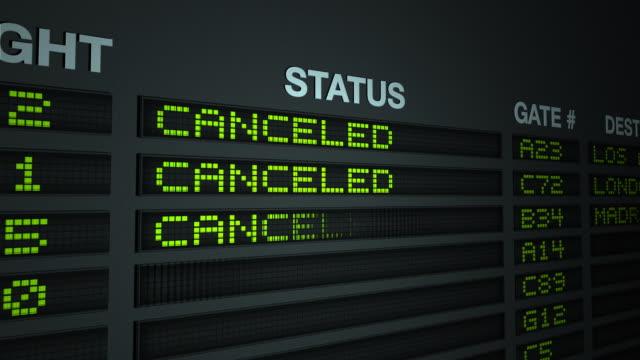 All Flights Canceled, Flight Information Board