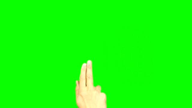 alle gesten mit 2 fingern. satz von 11 gesten. green-screen. tippen sie auf scroll tippen sie zweimal unentschieden wischgesten auf touch pad touchscreen tablet smartphone kinetik gadget. solide grün statt alpha-kanal. - schriftrolle stock-videos und b-roll-filmmaterial
