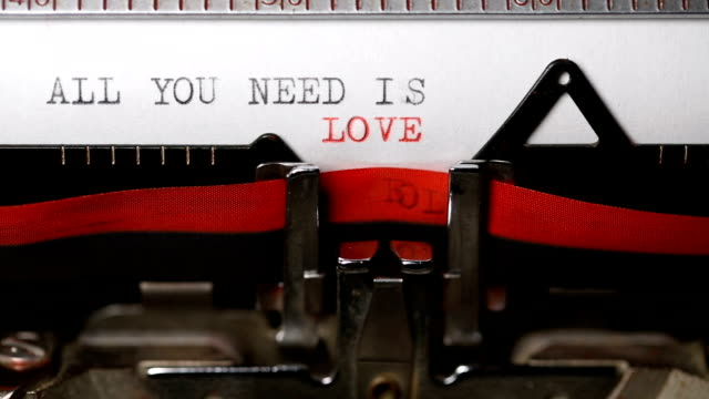 All You Need is Love - Typing with an old typewriter All You Need is Love - Typing with an old typewriter typewriter stock videos & royalty-free footage