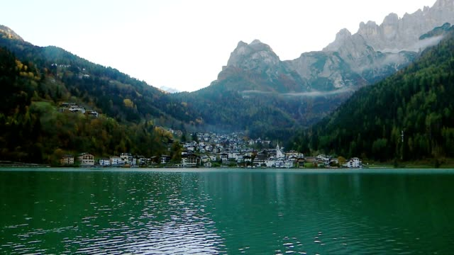 Alleghe village in Italy video