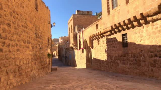 Alleys of Old Mardin, Turkey Mardin is known for the Artuqid architecture of its old city in southeastern Turkey. Video has been captured by iPhone 8 Plus. mardin stock videos & royalty-free footage