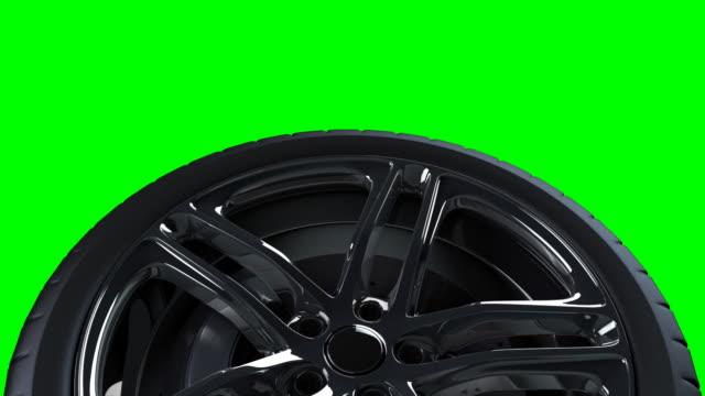 Alloy wheel on greenscreen