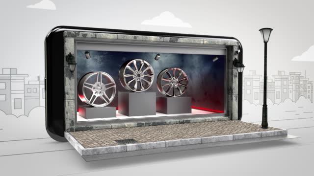 Alloy Wheels Online Shopping - Alpha Channel - 4K Resolution