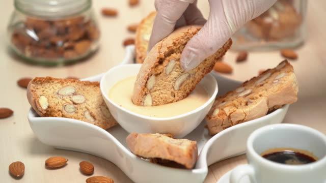 4K - Almond Cookies with Dessert Cream video