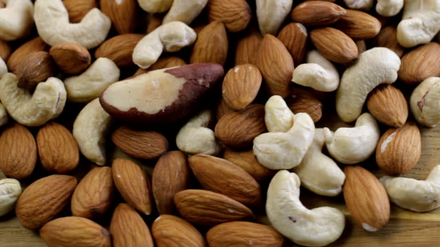 Almond with Mixed Nuts Rotate Closeup video