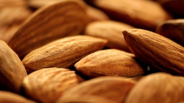 vídeos de stock e filmes b-roll de amêndoas - amendoas