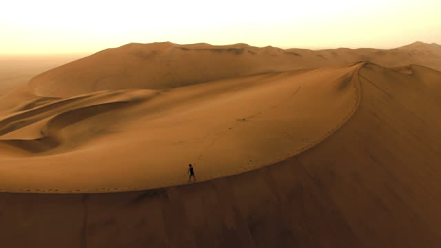 Alone in the desert dawn video