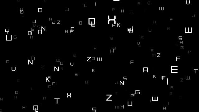 Alphabet 3D Background Loop video