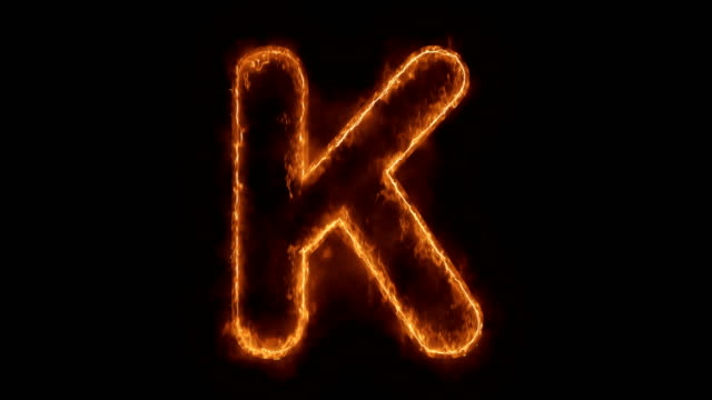 Alphabet K Word Hot Animated Burning Realistic Fire Flame Loop. Alphabet K Word Hot Animated Burning Realistic Fire Flame and Smoke Seamlessly loop Animation on Isolated Black Background. Fire Word, Fire Text, Flame word, Flame Text, Burning Word, Burning Text. k icon stock videos & royalty-free footage