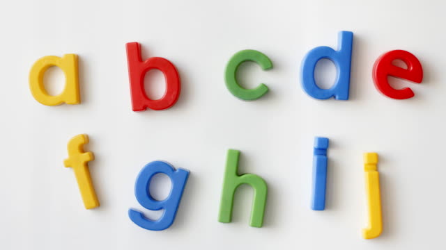 alphabet magnets alphabet fridge magnets magnet stock videos & royalty-free footage