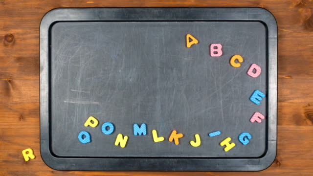 alphabet stop motion animation with foam letters - video