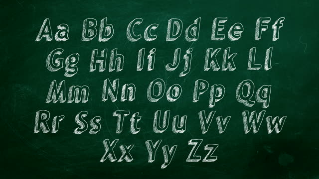 stockvideo's en b-roll-footage met alfabet - font