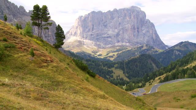 Alpine Mountain Pass in Autumn video