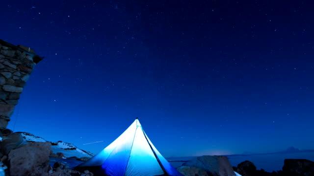 Alpine Night Sky Timelapse video