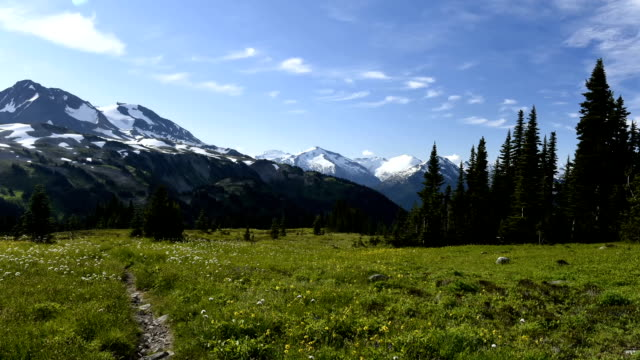 Alpine time lapse video
