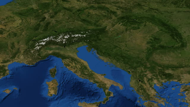 Alps from space video