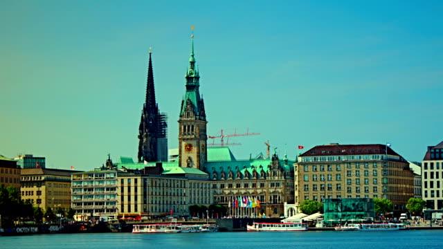 Alster Lake, Hamburg, Germany, time lapse video