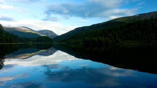Altai mountains. Beautiful highland landscape. Russia Siberia. Timelapse