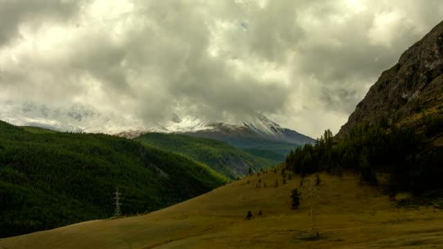 Altai mountains. Beautiful highland landscape. Russia Siberia. Timelapse video
