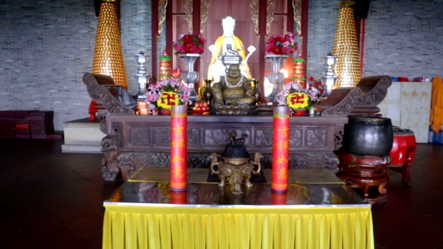Altar in  Buddhist temple video