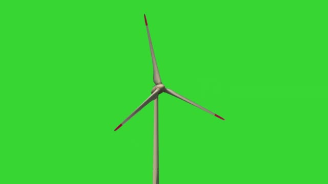 Alternative energy wind power turbines with green background for chroma key Rotating wind wheel with green screen background propeller stock videos & royalty-free footage