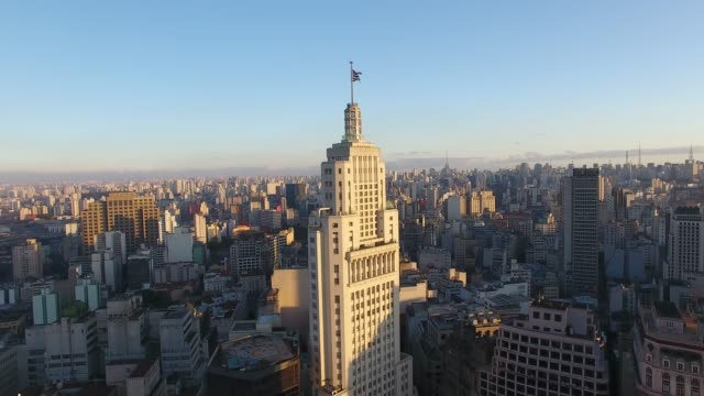 Altino Arantes Building Aerial view of São Paulo city downtown in a sunset light são paulo state stock videos & royalty-free footage