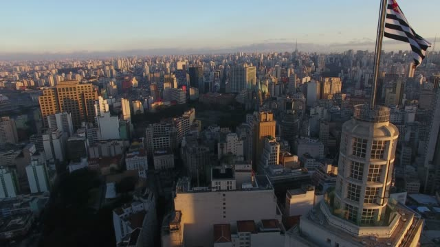 Altino Arantes Building Aerial view of Altino Arantes Building - São Paulo city downtown são paulo state stock videos & royalty-free footage