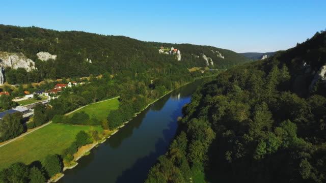Altmuehl Valley And Prunn Castle In Bavaria Flyover video