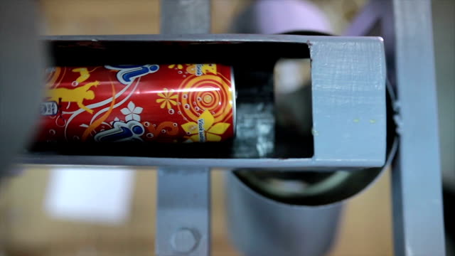 Aluminium cans recycling video