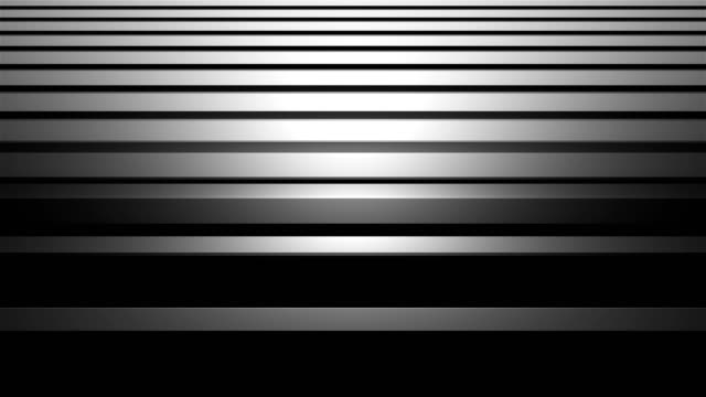 aluminum abstract silver stripe background 3d illustration, horizontal bars with shining, computer render - acciaio inossidabile video stock e b–roll