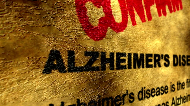 Alzheimer disease confirm