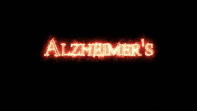 Alzheimer's written with fire. Loop