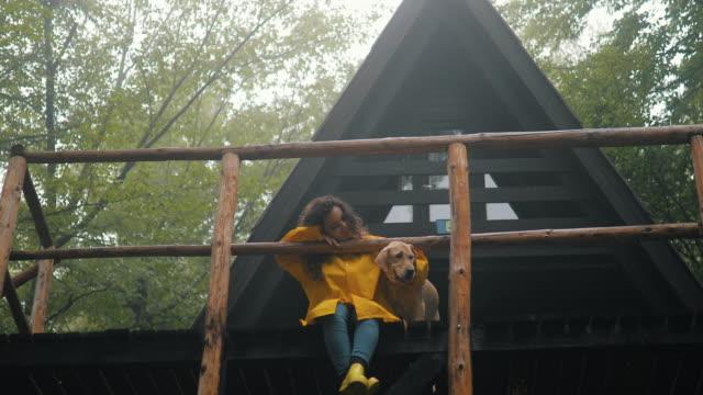 ich bin der glücklichste hund der welt - landhaus stock-videos und b-roll-filmmaterial