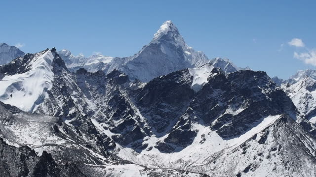 Ama Dablam Seen from Kala Patthar in Nepal video