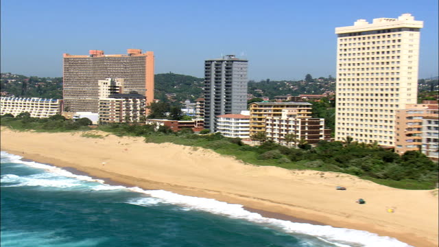 Amanzimtoti  - Aerial View - KwaZulu-Natal,  South Africa This clip was filmed by Skyworks on HDCAM SR 4:4:4 using the Cineflex gimbal. KwaZulu-Natal,   South Africa natal stock videos & royalty-free footage